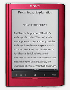 How do I download the Modern Buddhism eBook to my Sony Reader?